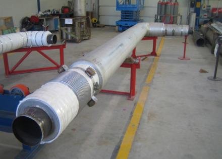 FW-kammio-teräsvaippaputken uuden materiaalin testausputken rakennus